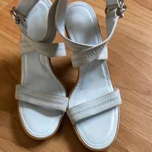 TOD'S Women's Baby blue ankle strap heels size 39